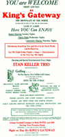 Stan Kellar Trio playbill